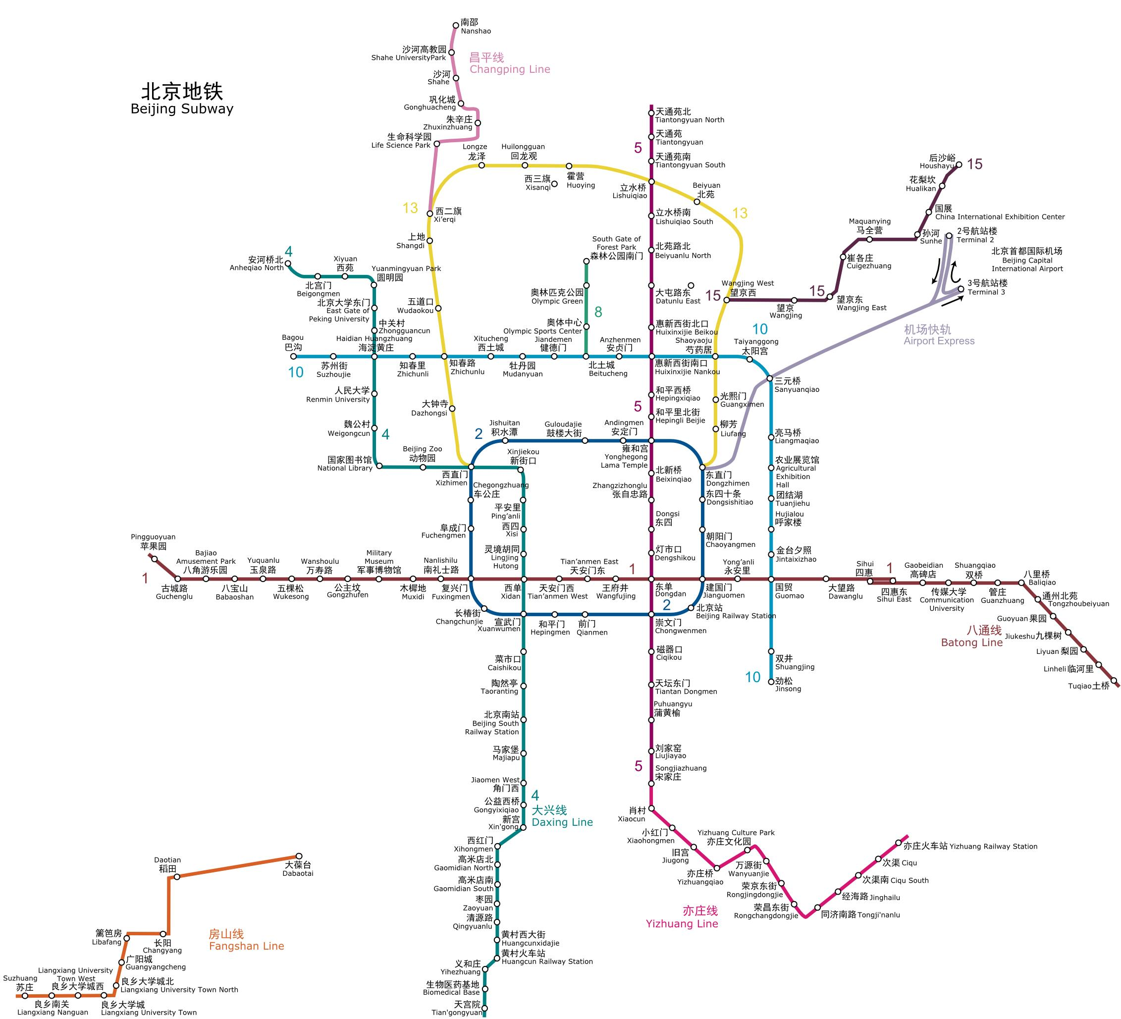 Beijing Subway 2012