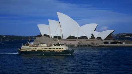 Manly Ferry and the Opera House
