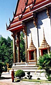 Nong Khai Meditation Centre and a monk